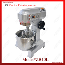 ZB10L stainless steel electric food mixer planetary mixer dough mixer, egg beater machine for kitchen equipment