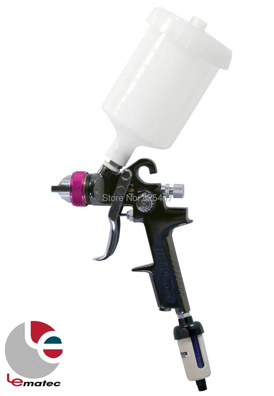 1.4 mm HVLP Spray gun With Air Desiccant Filter Air Dryer LEMATEC Gravity Feed Paint Gun Professional Auto Power Tools Kits sat0080 air paint gun pistolet peinture car paint sprayers lvmp 600ml cup gravity feed pneumatic spray gun