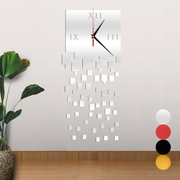 DIY Mirror Wall Clock 3D Stickers Living Room Home Wall Decor Clocks Best Price headset icon white png