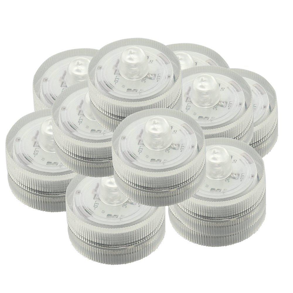 Zestaw 24 Głębinowa Wodoodporna Podwodne Ślubne Herbaty Sub Światła LED Światła do Dekoracji Wedding Party Bar itp * Biały *