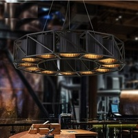American Style Fabric shade Droplight Industrial Vintage Pendant LIght Fixtures For Dining Room LED Hanging Lamp Home Lighting