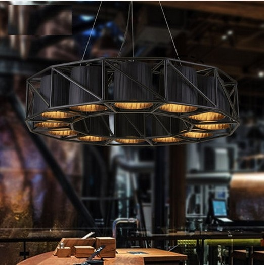 American Style Fabric shade Droplight Industrial Vintage Pendant LIght Fixtures For Dining Room LED Hanging Lamp Home Lighting gold led chandelier vintage wrought iron chandeliers lighting fixtures led hanging lamp with fabric shade for dining room