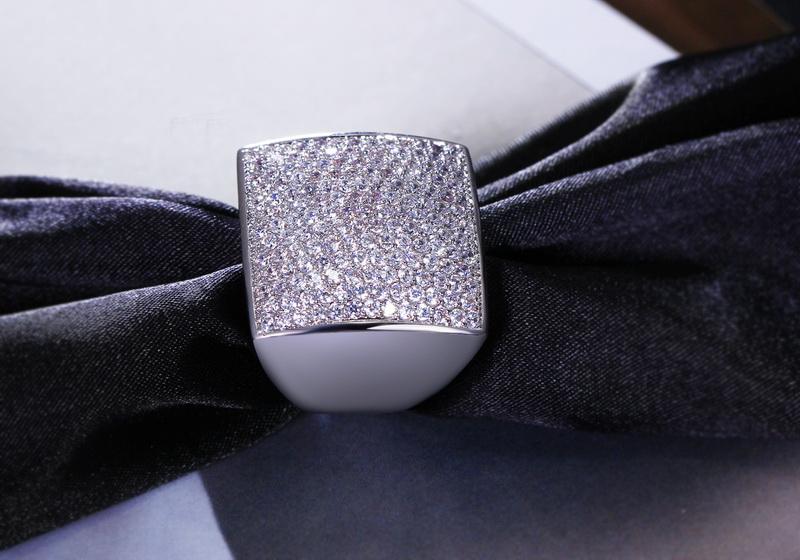 946aa7cfbfb5 Moda diseño Geométrico forma Cuadrada Grandes joyas Circón piedras ...