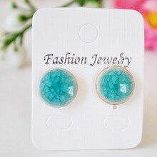 Supply Jingdezhen Binglie glazed pottery summer pattern earrings earrings wild 31706 #