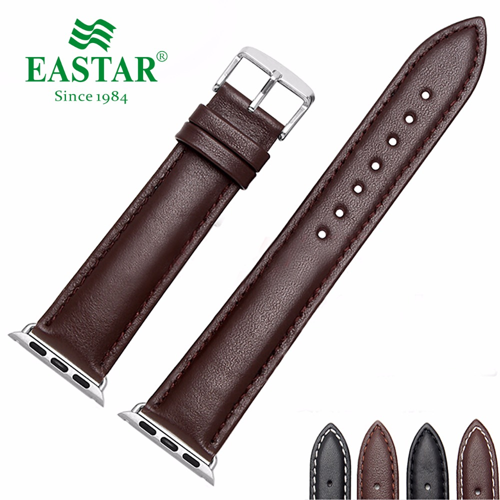 Eastar 4 Color Leather Watchband for Apple Watch Band Series 3/2/1 Sport Leather Bracelet 42 mm 38 mm Strap For iwatch Band цена
