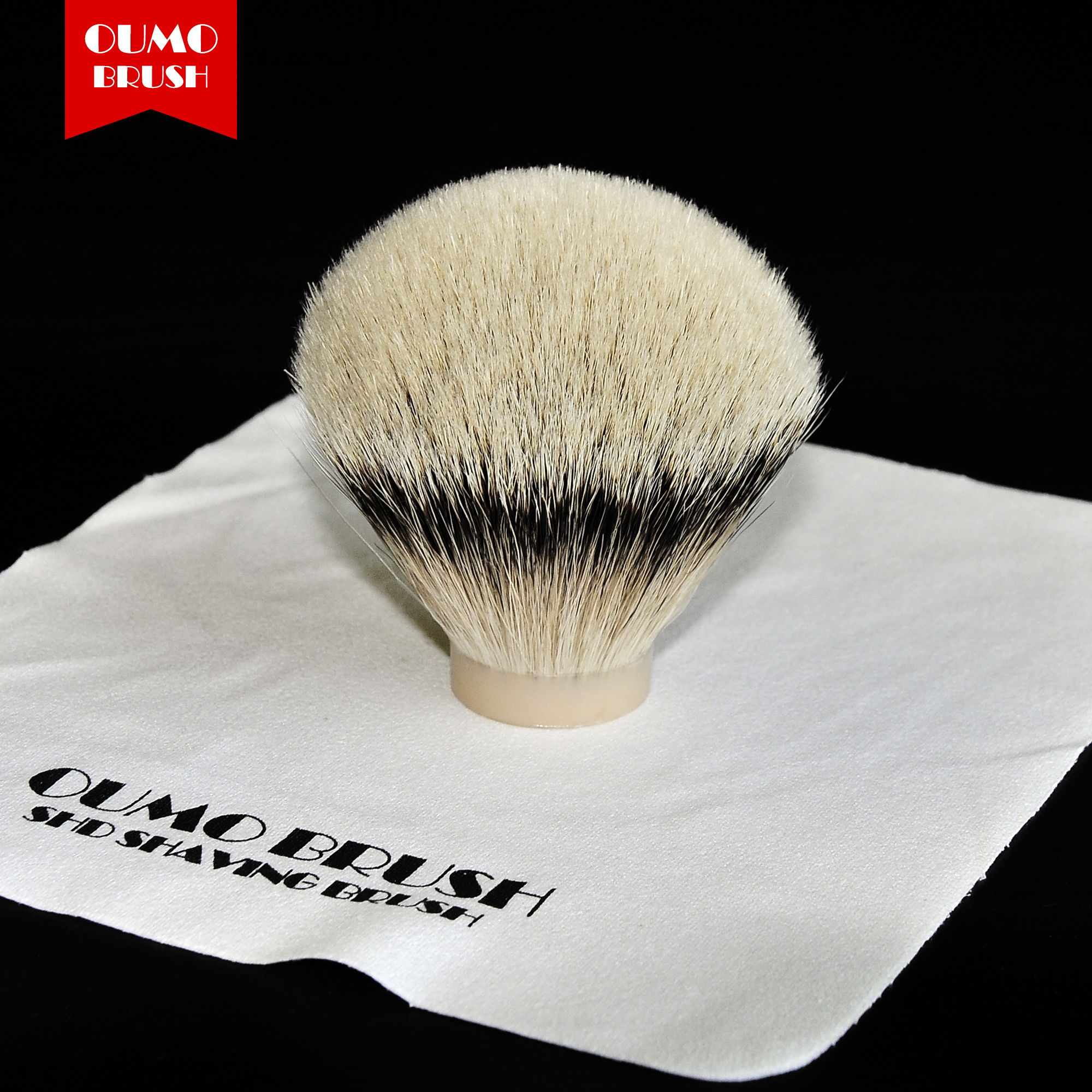 OUMOBRUSH-SHD SILK HMW Slivertip Shaving Brush Knots Gel Tip