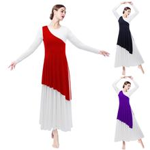 Women Adult One-Shoulder Tunic for Modern Liturgical Dance Wear Pleated Asymmetrical Praise Dance Tunic Outer Tops Praisewear цена и фото