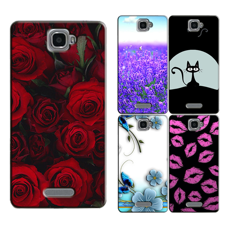 for Lenovo S856 S 856 S810T Original Phone Case Printed Back Cover Shell Bag Painting Skin Flower Coque Capa