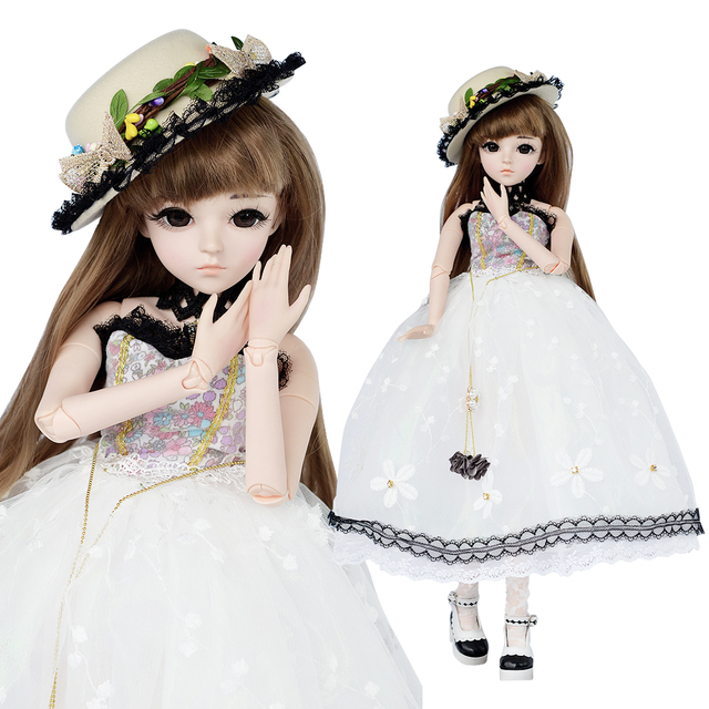 UCanaan 60cm 23 6 BJD SD Dolls with Clothes Outfit Shoes Wig Hair Makeup and 18