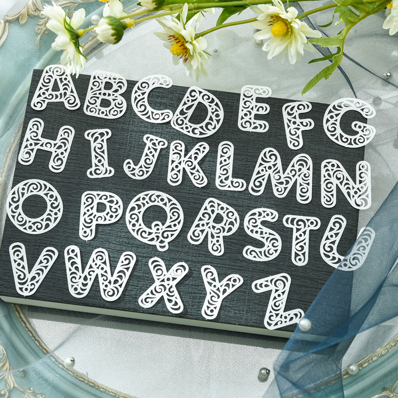 KSCRAFT 72pcs White Lace Letters And Numbers For DIY Scrapbooking/Card Making/Kids Fun Decoration Supplies