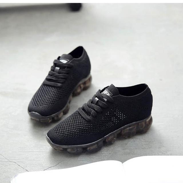 d3d3e26363 MULINSEN 2017 mujeres de cojín de Aire zapatos corrientes vapormax Respirar  calcetín de punto de rebote
