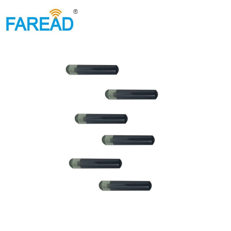 X10pcs 4*22mm 13.56MHz ISO15693 HF I-Code-Slix RFID Glass Chip Transponder Microchip