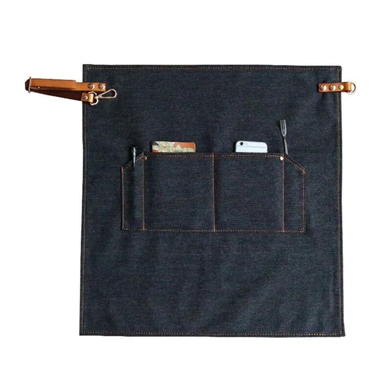 חצי אורך ג 'ינס כחול סינר רצועות עור - סחורה ביתית