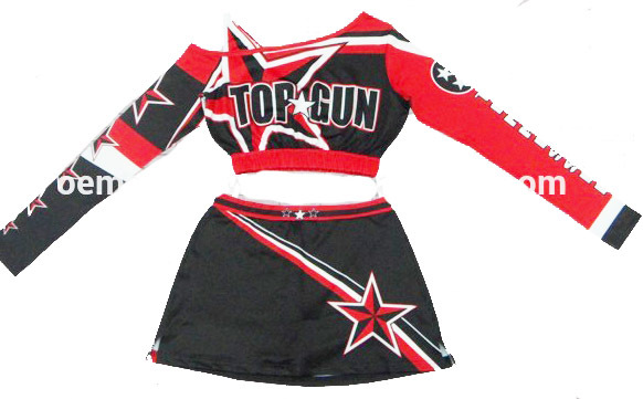 Long Shoulder Cheerleading Uniforms Sleeve One