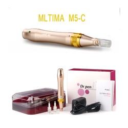 Caneta derma dr. caneta M5-C microneedle caneta baioneta prot agulha cartuchos caneta uso com cabo com fio drpen ultima m5-c novo