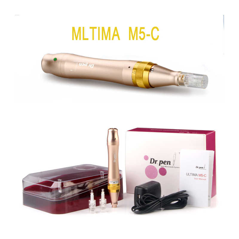 Cilt bakım kalemi Dr. kalem M5-C Microneedle kalem süngü bağlantı noktası İğne kartuşları kalem kullanımı kablolu kablo ile Drpen ULTIMA M5 C microneedling