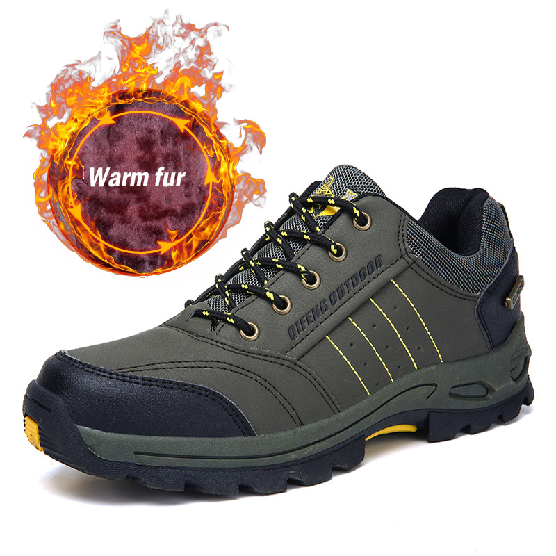 Brand Men Women Hiking Shoes 2019 Winter Plush Warm Lace Up Hiking Boots Sneaker Man Outdoor Climbing Trekking Sapatillas Hombre