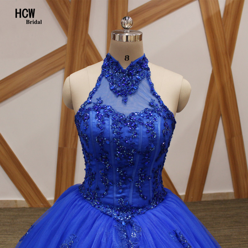Kuninglikud sinised Quinceanera kleidid 2018 päitsed lahtised tagasi - Eriürituste kleidid - Foto 4