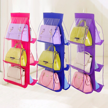 6 Pocket Hanging Storage Bag Household Organizer Dust Proof Closet Rack Hangers For Shoes Home Supplies