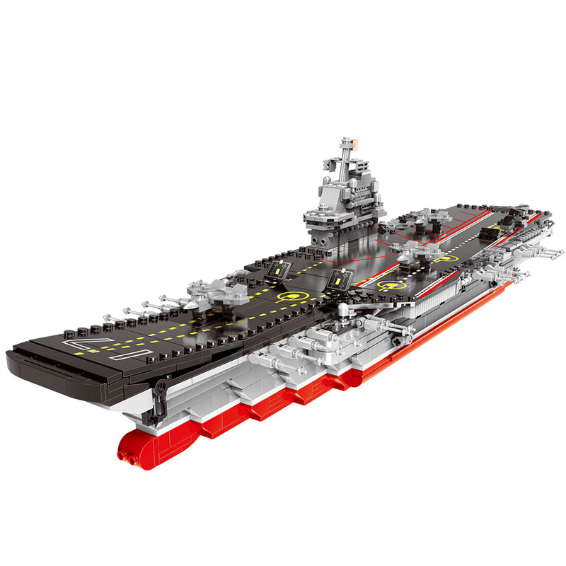 XINGBAO 06020 New 1355PCS Military Series The Aircraft Ship Set Building Blocks Bricks Toys Educational  Toys LegoINGys Models black pearl building blocks kaizi ky87010 pirates of the caribbean ship self locking bricks assembling toys 1184pcs set gift