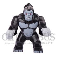 Decool 1 pcs Gorila Grodd DARKSEID Ultron Montar minifig Super-heróis Vingadores Modelo Blocos de Construção Crianças Brinquedos Presentes