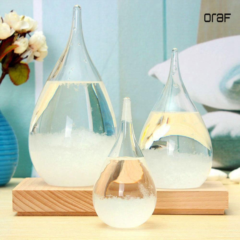 ORAF S/M/L Weather Forecast Crystal Bottle  Water Drop Storm Glass With The Base Orignal BoxHome Dec For Christmas