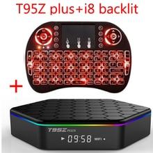 T95Z Плюс 3 г 32 г/2 г 16 г Amlogic S912 отт tv box окта-ядерный cortex-A53 Android6.0 коди 16.0 4 К media player