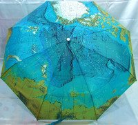 New Arrival Map Umbrella Fully Automatic Three Fold Umbrella Personalized Folding Sun Protection Umbrella Sun Umbrella