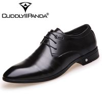 CUDDLYIIPANDA 2018 New Design Genuine Leather Lace Up Modern Men Shoes Party Wedding Suit Formal Footwear
