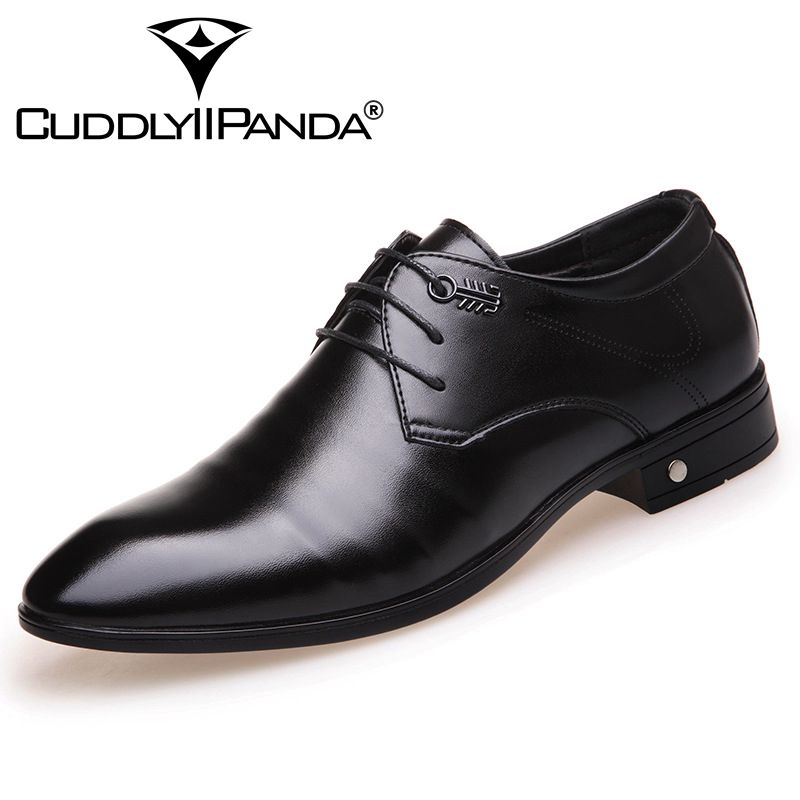 CUDDLYIIPANDA 2018 New Design Genuine Leather Lace Up Modern Men Shoes Party Wedding Suit Formal Footwear Male Dress Shoes 2017 new italian modern men formal oxford shoes genuine leather crocodile print brown lace up dress men s footwear 1815 810