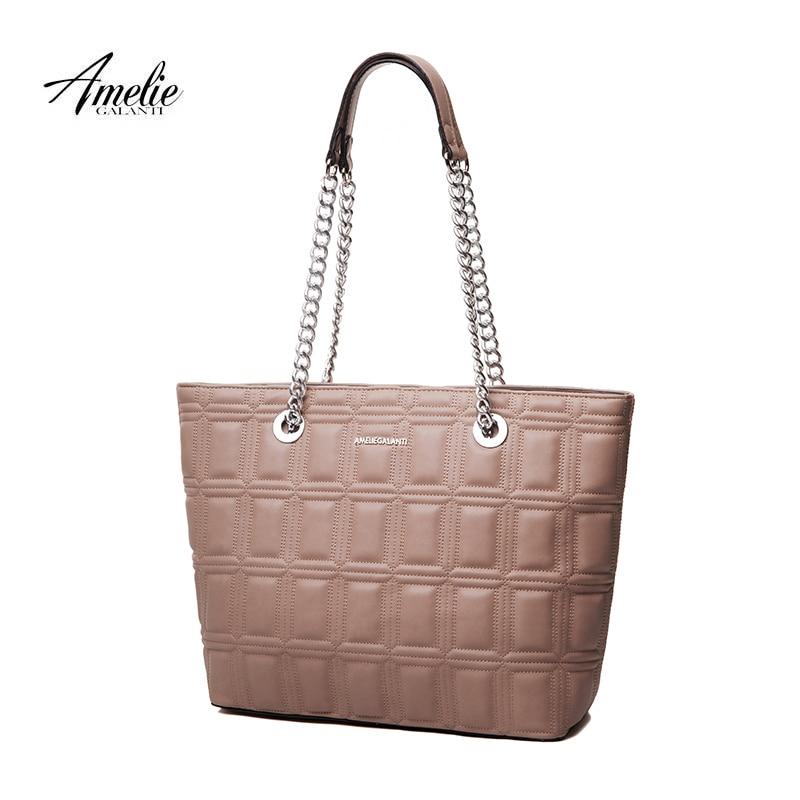 AMELIE GALANTI Women's shoulder chain bag Big bag Geometric embroidery Generous stylish and convenient stylish geometric pattern tassel cardigan