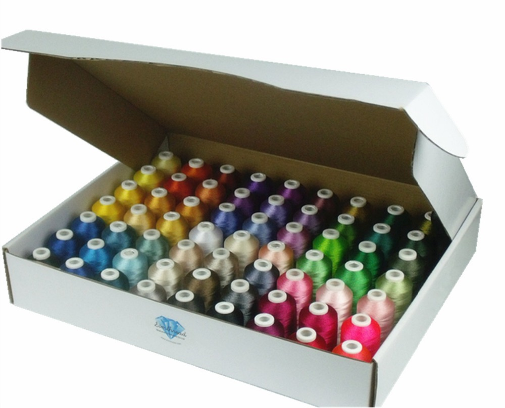 New Brother Colors Series Computer Machine Embroidery Thread Filament 1000m 63 120d 2 40wt 100 Trilobal