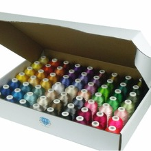 Брат цвета серии компьютер нить для машинного вышивания нити 1000 м* 63, 120d/2(40wt), трилобаль полиэстер нитки