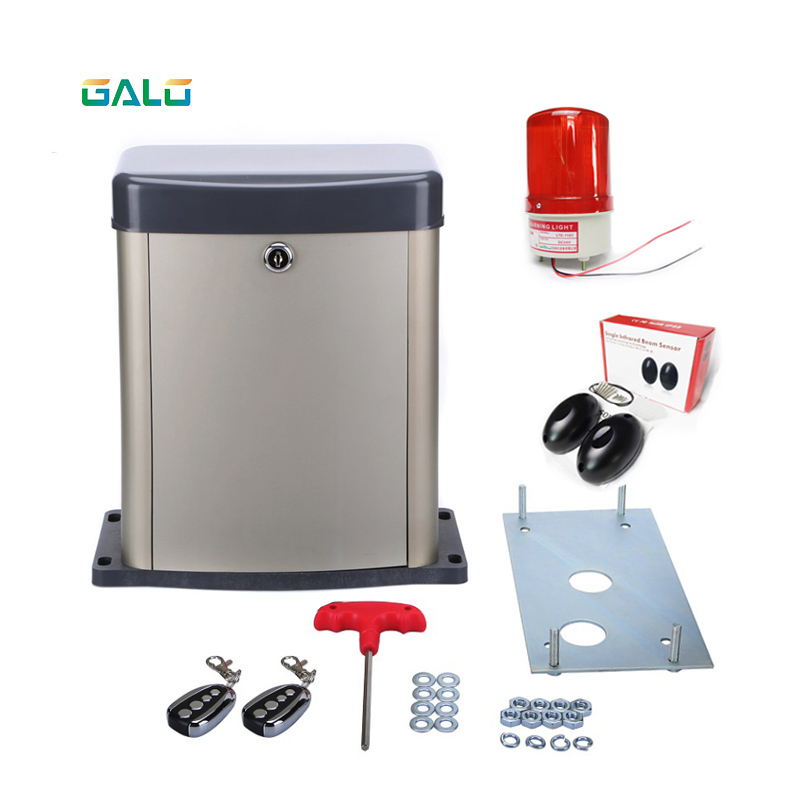 Galo Metal Material 300KG-500KGS Motor Powered Automatic Sliding Gate Openerator Support access to solar systems
