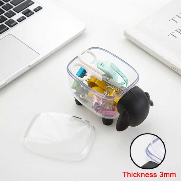 Makijaż organizer na kosmetyki plastikowy pojemnik do przevhowywania pojemnik organizator przyborów do makijażu biuro dental floss stojak na wykałaczki wacik
