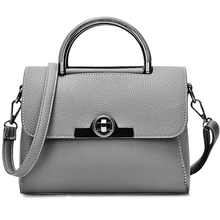 Hot Flap Women's Luxury Leather Black Clutch Bag Ladies Handbags Brand Women Messenger Bags Sac A Main Femme 2016 Short Handle