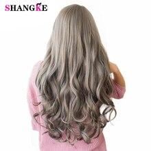 SHANGKE 26 Lange Wellenförmige Farbige Haar Perücken Hitze Beständig Synthetische Perücken Für Weiße Frauen Natürliche Weibliche Haar Stück 7 farben