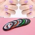 10 pçs/set Striping Prego Linha Tape Art Decoração Etiqueta Decalques DIY Gel UV Pontas Das Unhas de Acrílico para o prego maquiagem