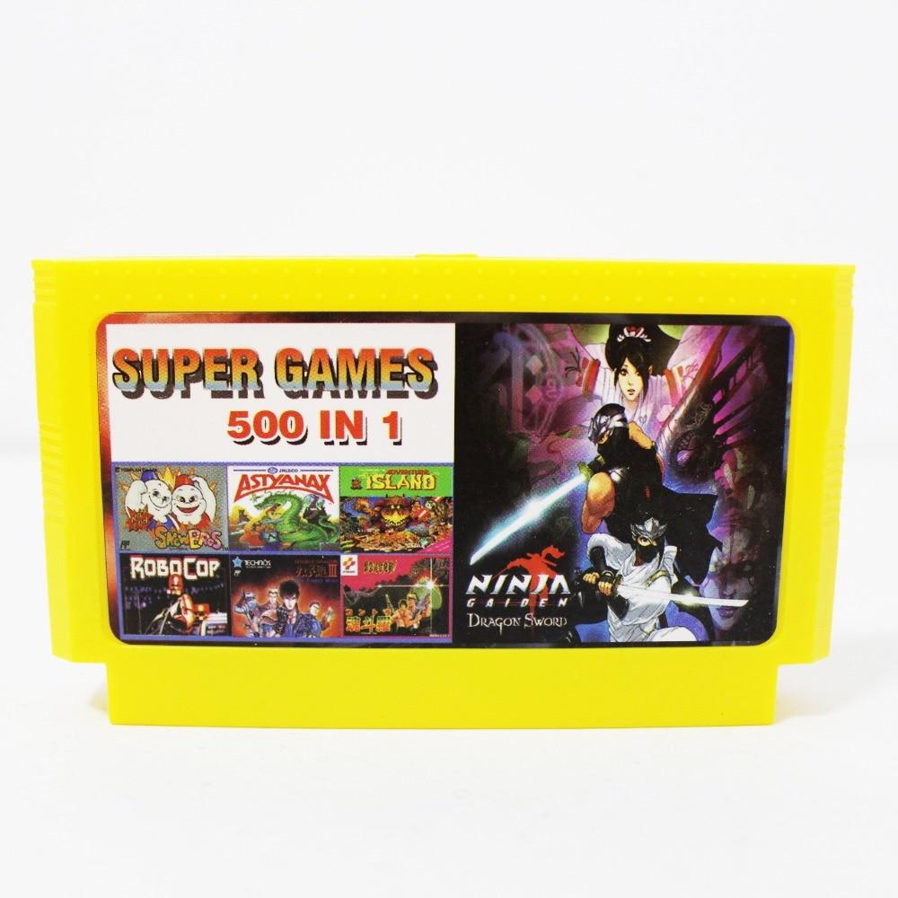 500 en 1 Jeux De Poche 60 Broches Carte de Jeu Vidéo Pour 8 Bits Joueur de Jeu