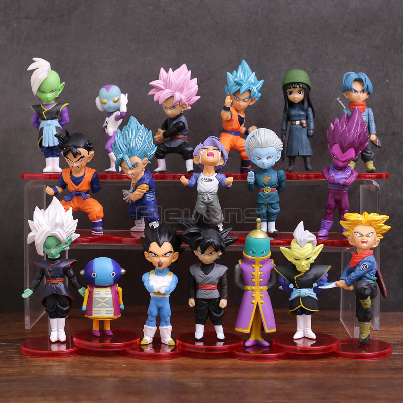 Dragon Ball Super Son Goku Gohan Vegeta Zen o Jaco Trunks Mai Zamasu Grand Priest PVC Figures Toys 18pcs/set цена