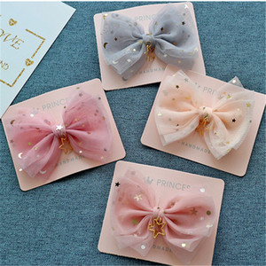 High-quality Baby Hair Accessories Children's Cute Lace Bowknot Hair Clips Baby Girl Hairpin Child Hair Bow Ribbon Headdress(China)