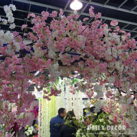 152cm Longer Artificial Cherry Blossoms Flowers Wedding Arch Decorative Flowers Supplies Fake Drape Sakura