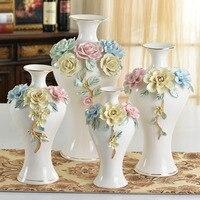 Современный минималистский Творческий керамическая белая ваза украшения флористики вазы дома Гостиная Декоративные свадебный подарок ре