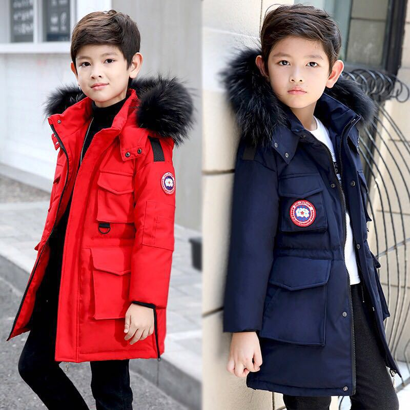 Children Boys Winter Jacket Kids Clothes Long Hooded Warm Down Jacket 2018 Girls Coat Outwear Teenage Boys Clothing 8 12 14 Year children down jacket long sleeves little bear ears lightweight warm hooded clothing winter hooded jacket short coat infants kids