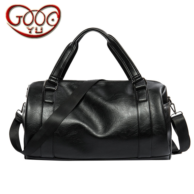 High-quality thick PU leather high-capacity  bag  travel bag hand luggage bag shoulder  bag Korean Messenge high quality