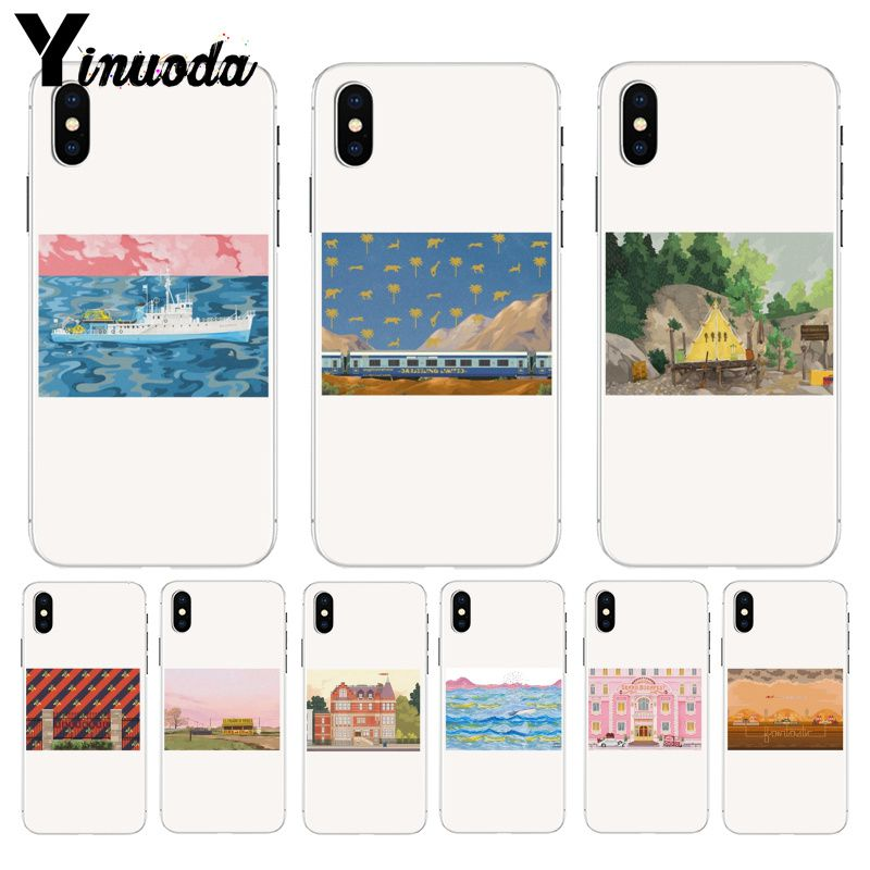 Yinuoda Cartoon beautiful landscape Special Offer Luxury Vertical phone case for iPhone 8 7 6 6S Plus X XS max 5 5S SE XR Cover