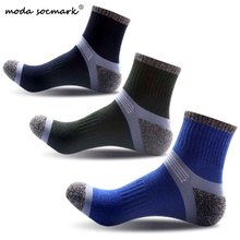 Moda Socmark Cotton Unisex Comfortable Letter Stripe Youthful Socks Slippers Ankle Compression Mens