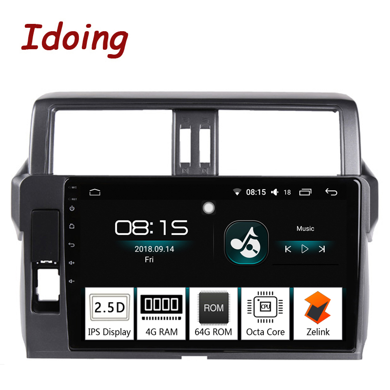 Idoing 10 2 4G 64G Octa Core Car Android8 0 Radio Multimedia Player Fit Toyota Prado