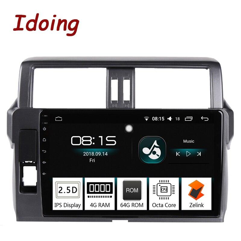 Je fais 10.2 4G + 64G Octa Core Voiture Android8.0 Radio lecteur Multimédia Fit Toyota Prado 150 2014 2.5D IPS Écran navigation gps PX5