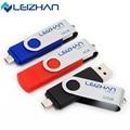 Leizhan 2017 otg usb flash drive pen drive pendrive real capacidade Stick USB OTG 2.0 64/32/16/8/4g Drive USB De Memória de Computador chave